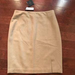 NWT Brooks Brothers Camel Hair Pencil Skirt R$268